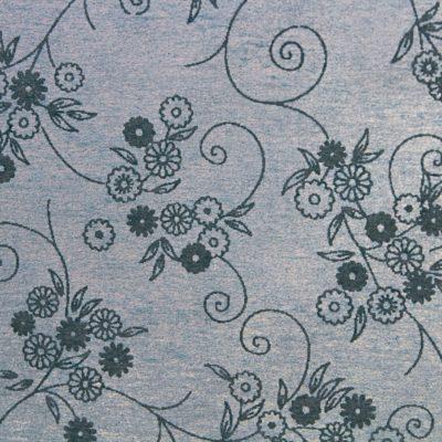 Baumwollpapier mit Seide, Blumenmotiv